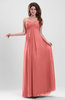 Elegant A-line Zipper Chiffon Floor Length Ruching Party Dresses
