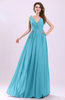 Modern A-line Sleeveless Zipper Chiffon Ruching Wedding Guest Dresses