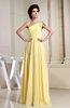 Elegant A-line Sleeveless Backless Chiffon Ruching Evening Dresses