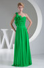 Elegant A-line One Shoulder Sleeveless Backless Floor Length Prom Dresses