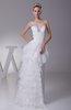 Glamorous Destination A-line Zip up Organza Floor Length Bridal Gowns