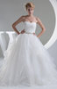 Fairytale Church Ball Gown Strapless Sleeveless Floor Length Bridal Gowns
