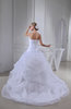 Fairytale Church Ball Gown Sleeveless Organza Beaded Bridal Gowns