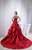 Gorgeous Church A-line Strapless Satin Cathedral Train Bridal Gowns