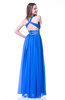 Glamorous A-line V-neck Sleeveless Sash Plus Size Prom Dresses