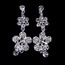 Party Clip Earrings Jewelry Sets Luxurious Alloy