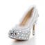 Average Wedding Shoes Closed Toe Dress Stiletto Heel Girls' Cloth