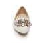 Imitation Pearl Wedding Shoes Girls' Closed Toe Flat Heel Patent Leather Graduation
