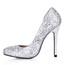 Sequined Cloth/Sparkling Glitter Wedding Shoes Sparkling Glitter Girls' Average Stiletto Heel Wedding