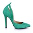 Women's Wedding Shoes Split Joint Pointed Toe Narrow PU Stiletto Heel