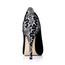 Silk Like Satin Pumps/Heels Peep Toe Stiletto Heel Women's Lace Wedding