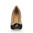 Split Joint Wedding Shoes Cap-Toe Narrow Stretch Fabric Stiletto Heel Office & Career