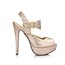 Sequined Cloth/Sparkling Glitter Wedding Shoes Dress Buckle Women's Extra Wide Stiletto Heel