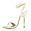 Average Dance Shoes Silk Like Satin Girls' Buckle Office & Career Stiletto Heel