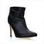 Ruched Pumps/Heels Women's Wedding Booties/Ankle Boots Bootie Narrow