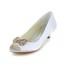 Bowknot Pumps/Heels Satin Open Toe Dress Girls' Low Heel
