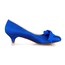 Low Heel Wedding Shoes Bowknot Closed Toe Honeymoon Satin Women's