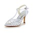Girls' Wedding Shoes Satin Casual Open Toe Kitten Heel