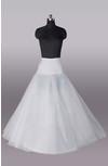 Nylon 2 Tiers Ball Gown Dropped Waistline Floor-Length Petticoat