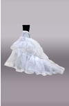 Nylon 1 Tier Ball Gown Chapel Train Petticoat