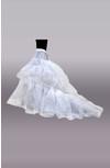 Nylon 1 Tier Ball Gown Chapel Train Petticoat