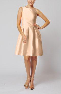 42e5e579f7d Pastel Pink Modest Sleeveless Zipper Taffeta Knee Length Pleated Little  Black Dresses