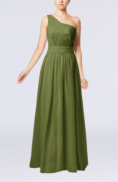 443750b7a9e Olive Green Modest Sleeveless Zipper Chiffon Floor Length Evening Dresses