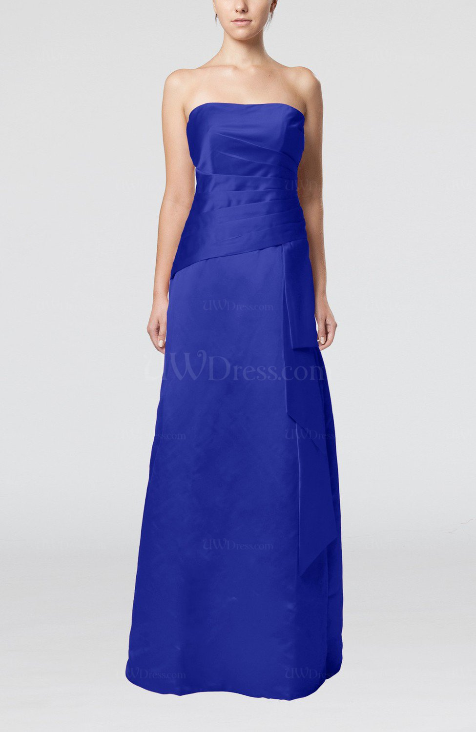 royal blue wedding guest dress royal blue sheath sleeveless backless satin 7165