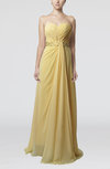 Elegant Sheath Sweetheart Chiffon Sweep Train Ruching Bridesmaid Dresses