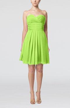 27dcdf837916 Sharp Green Simple Sleeveless Zip up Chiffon Pleated Graduation Dresses