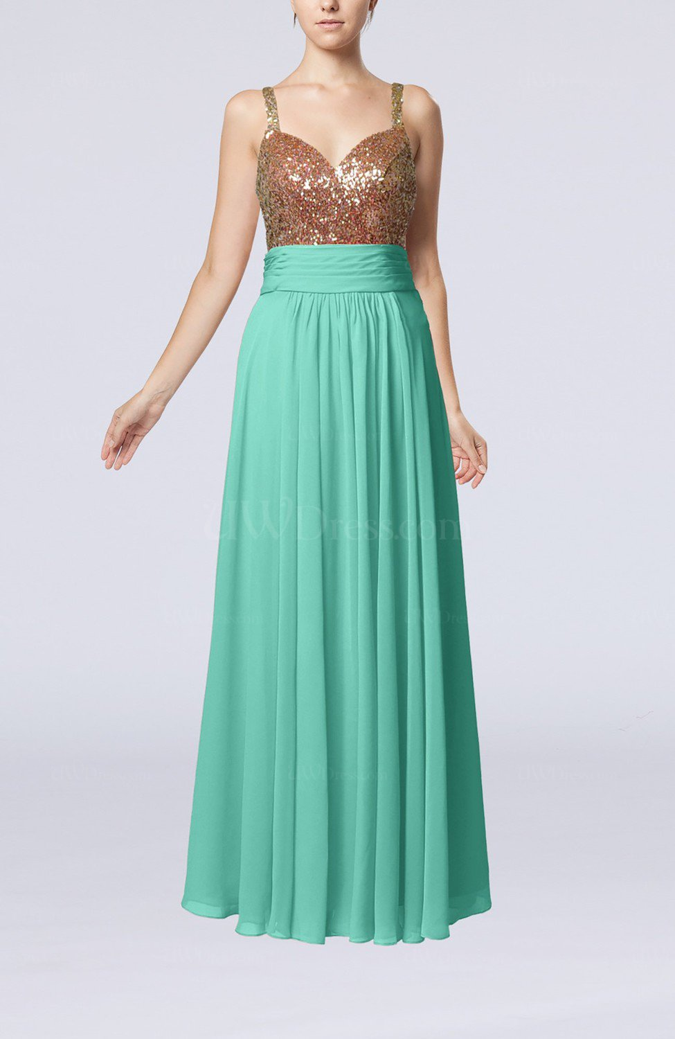 e19a3e0bd13 Mint Green Elegant Empire Sweetheart Sleeveless Backless Chiffon Graduation  Dresses (Style D39780)