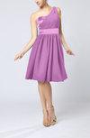Modern A-line One Shoulder Sleeveless Chiffon Bridesmaid Dresses
