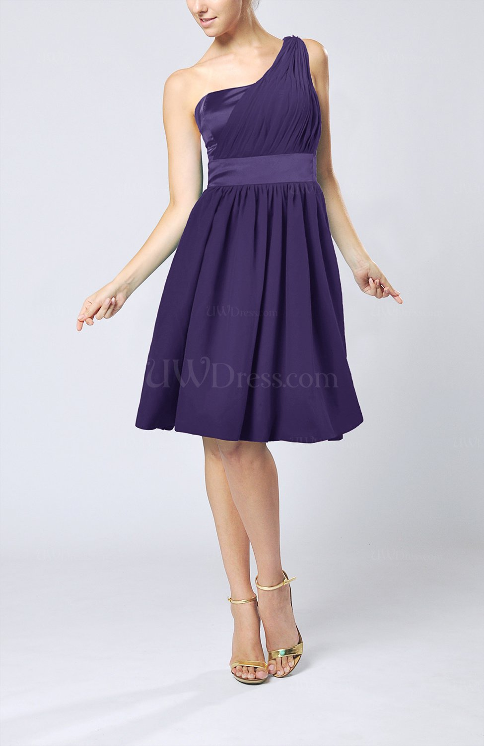 a30242a3194 Royal Purple Modern A-line One Shoulder Sleeveless Chiffon Bridesmaid  Dresses (Style D75846)