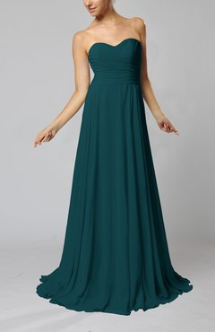 Blue Green Color Bridesmaid Dresses Uwdress Com