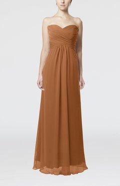 4812fc27842f Light Brown Simple Empire Sweetheart Zipper Ruching Bridesmaid Dresses