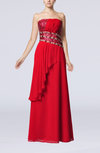 Glamorous Sheath Strapless Floor Length Beaded Party Dresses