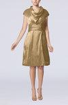 Modern Jewel Short Sleeve Taffeta Knee Length Bridesmaid Dresses
