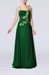 Gorgeous Spaghetti Sleeveless Chiffon Floor Length Beaded Party Dresses