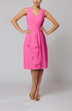 Rose Pink Color Cocktail Dresses Uwdress Com