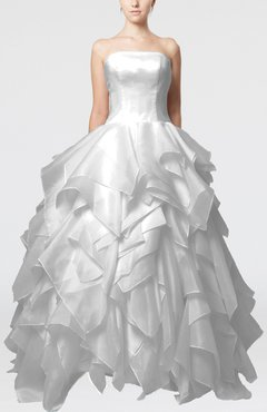 885a86a6ab7 Cloud White Disney Princess Outdoor Princess Sleeveless Backless Organza Bridal  Gowns