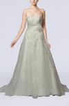Glamorous Church A-line Strapless Court Train Bridal Gowns