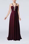Elegant Sheath Sleeveless Criss-cross Straps Chiffon Evening Dresses