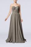 Elegant Column Sweetheart Chiffon Sweep Train Wedding Guest Dresses