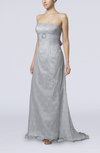 Elegant Church Scalloped Edge Backless Brush Train Lace Bridal Gowns