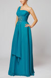 Elegant Sleeveless Chiffon Floor Length Paillette Homecoming Dresses