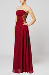 Elegant Sheath Strapless Zip up Appliques Prom Dresses