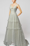 Vintage Hall A-line Sleeveless Backless Sequin Bridal Gowns