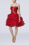 Fairytale Baby Doll Zipper Organza Beaded Homecoming Dresses
