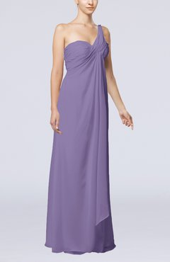 8c3509b0dce Chalk Violet Romantic Beach Sleeveless Zip up Floor Length Draped Bridal  Gowns