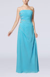 Elegant Column Strapless Zip up Floor Length Beaded Evening Dresses